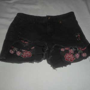 Vanilla Star Black Rose High Low Shortie